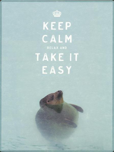 Keep Calm - PosterCard & Kuvert - Maxikarte