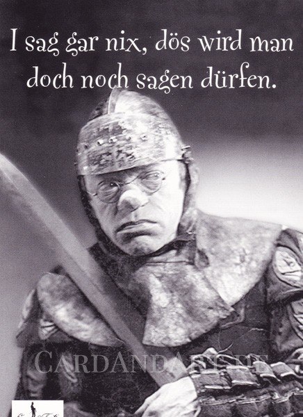 Valentin: I sag gar nix - Postkarte