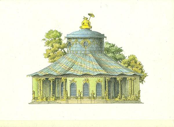 Chinesisches Haus im Garten Sanssouci - Doppelkarte