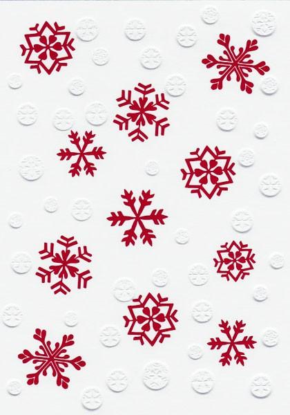 Snow Flakes - Weihnachtskarte