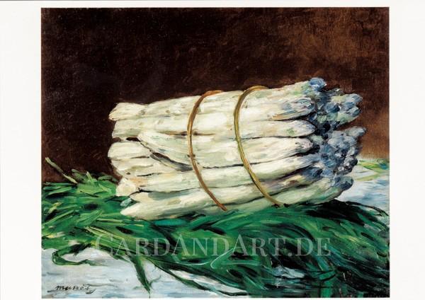 Manet Edouard: Spargel Stillleben - Postkarte