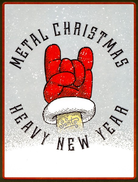 Metal Christmas Heavy New Year - PosterCard