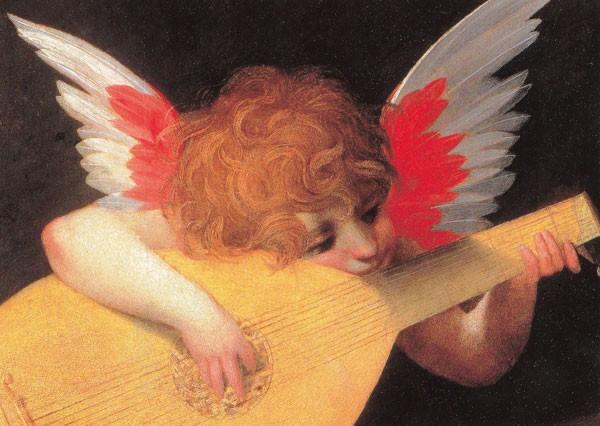 Fiorentino Rosso, Musizierender Engel - Postkarte