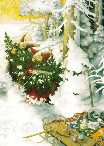Inge Löök: Weihnachtsbaum und Schneegeist - Postkarte Nr. 54