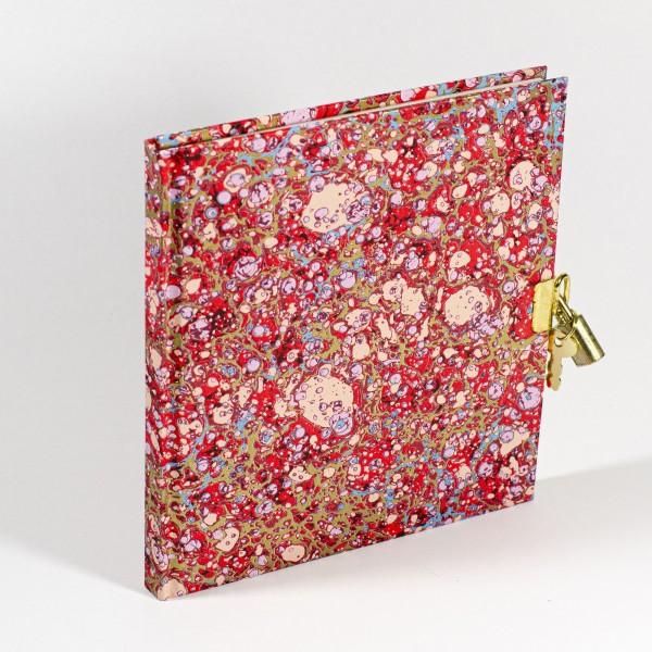 Tagebuch mit Schloss - Lapis Rosso - 148x165mm, 100 Seiten