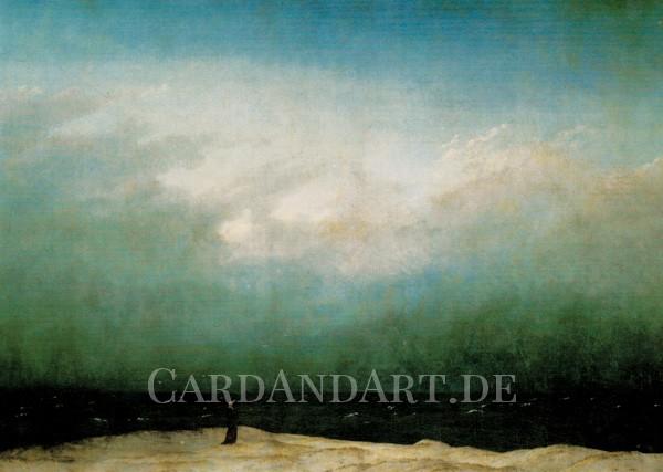 Friedrich, Caspar David: Der Mönch am Meer - Postkarte