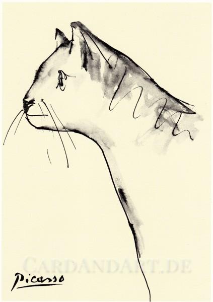 Picasso: Le Chat - Postkarte
