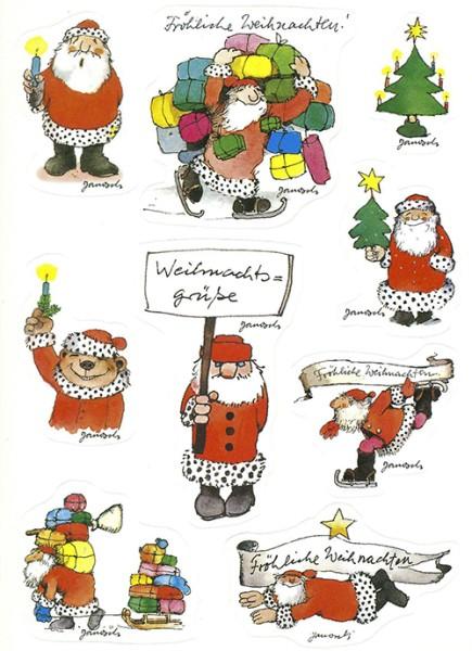 Janosch Sticker - Weihnachtsgrüße - Postkarte