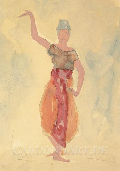Tänzerin aus Kambodscha - Auguste Rodin - Postkarte