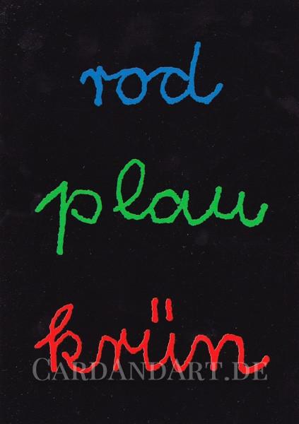 rod plau krün - Postkarte