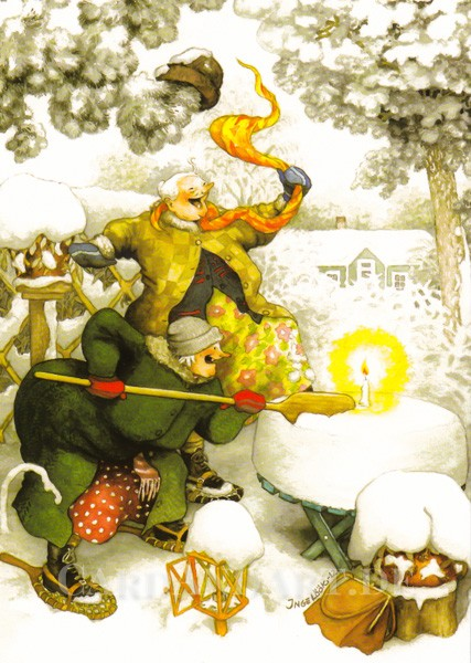 Inge Löök: Wir feiern im Schnee - Postkarte Nr.33