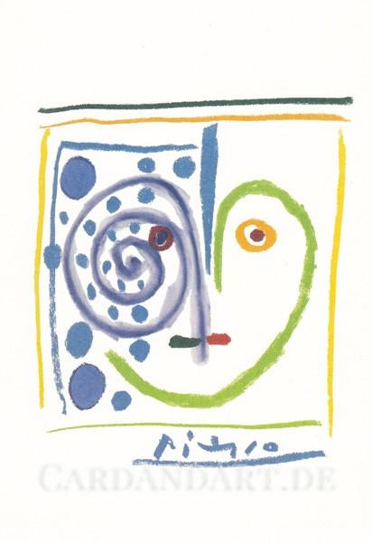 Picasso Pablo, Ceci est mon coeur 1961 - Postkarte