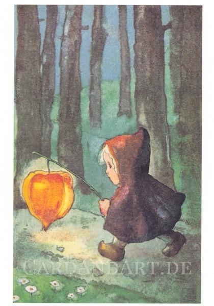 Mili Weber: Leuchte mir, Laternchen - Postkarte