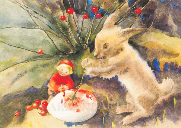 Mili Weber: Ostern steht vor der Tür - Postkarte
