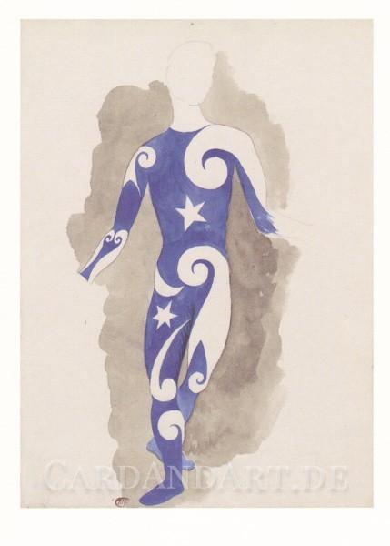 Picasso Pablo: Projet pour un costume d'acrobate - Postkarte