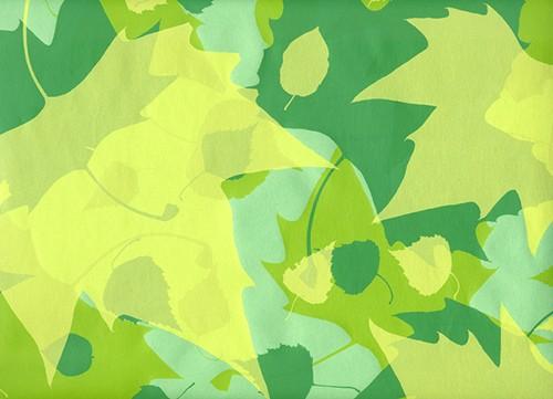 Blätterrauschen grün - gelb Geschenkpapier