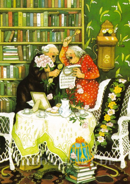 Inge Löök: Geburtstagsständchen am Telefon - Postkarte Nr. 31