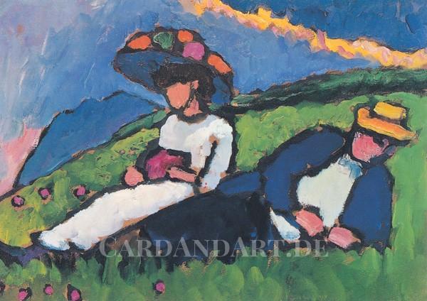 Münter, Gabriele : Jawlensky und Werefkin - Postkarte