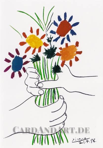 Pablo Picasso: Le Bouquet - Doppelkarte