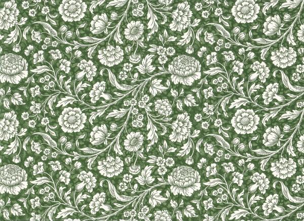 Wiesenblumen grün - Carta Varese Papier