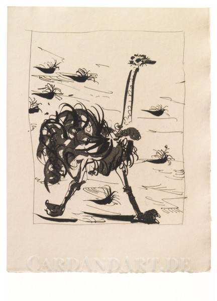 Pablo Picasso: Strauß - Postkarte