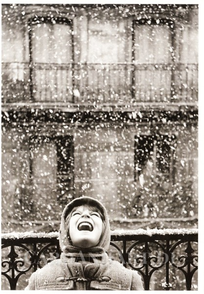 Boubat Edouard: Florence im Schnee - Paris 1950 - Postkarte