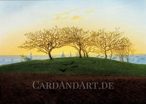 Friedrich, Caspar David: Hügel und Bruchacker bei Dresden - Postkarte