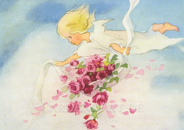 Mili Weber: Rosenengel - Postkarte