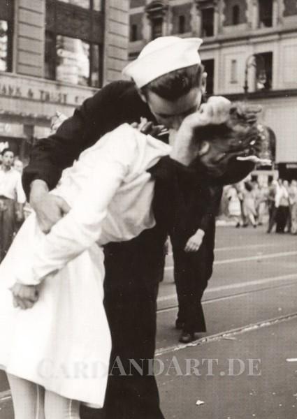 Der Kuss - Seemann und Mädchen - Postkarte
