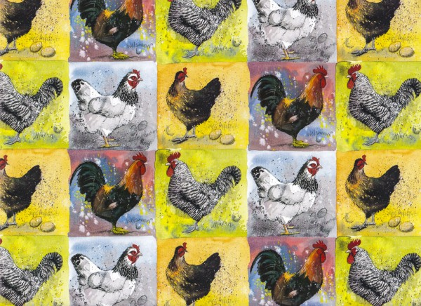 Hühner - Geschenkpapier aus England