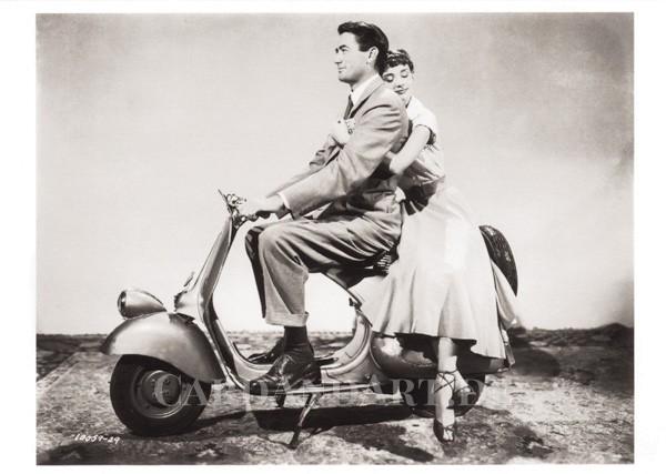 Audrey Hepburn und Gregory Peck - Postkarte