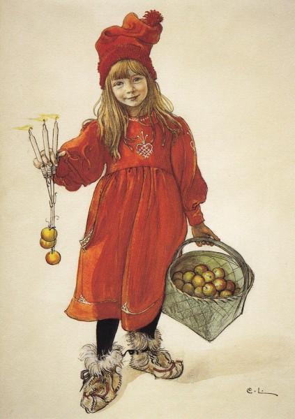 Larsson Carl: Brita - Postkarte