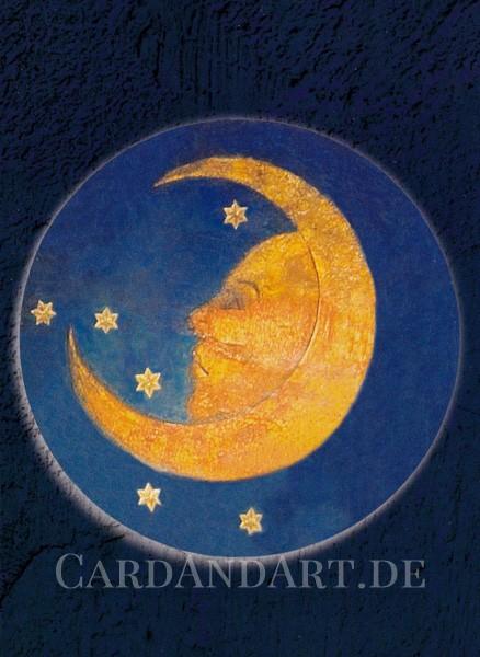 "Veit Stoß: Rosenkranzmedaillon ""Mond"" - Postkarte"