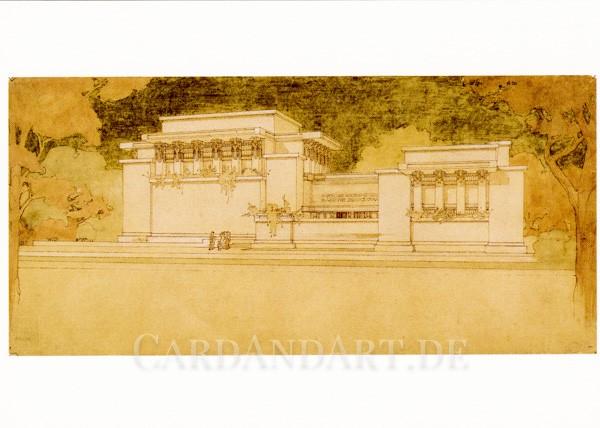 Wright, Frank Lloyd - Unity Temple - Postkarte