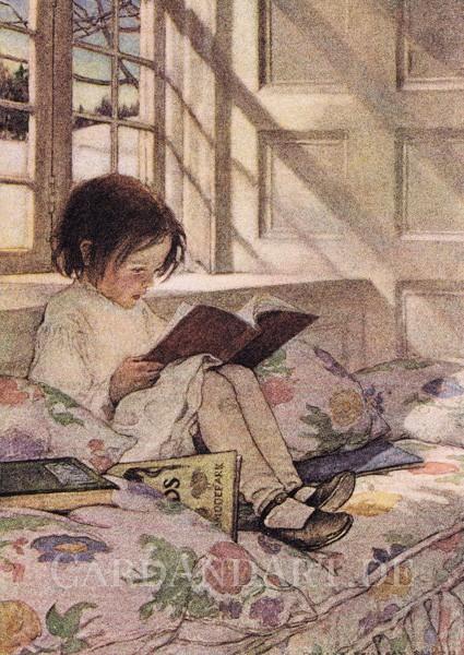 Willcox Smith, Jessie: Lesendes Mädchen - Postkarte