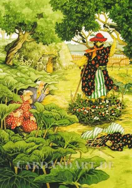 Inge Löök: Vogelscheuche - Postkarte Nr. 62
