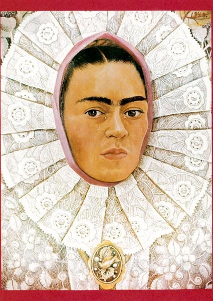 Kahlo Frida: Plakat einer Ausstellung - Postkarte