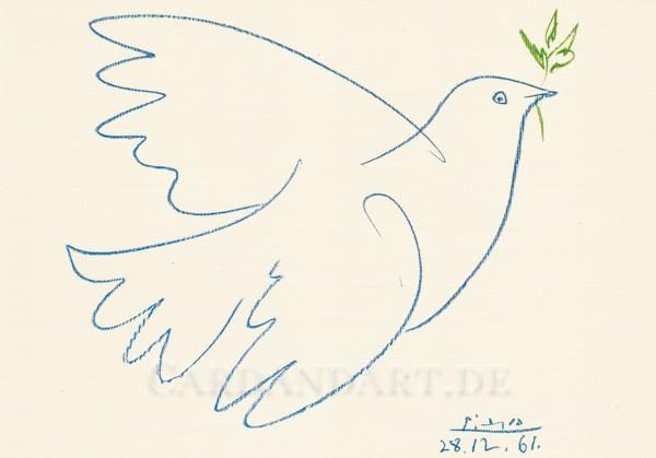 Picasso: Colombe bleue - Postkarte