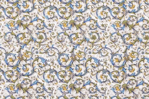 Florentiner antik blau - Geschenkpapier mit goldfarbenem Druck