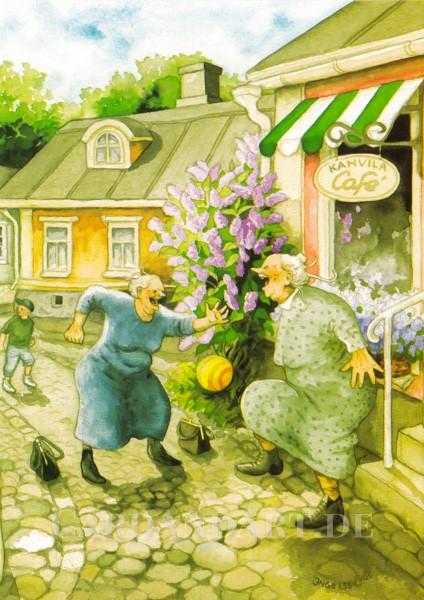Inge Löök: Kahvila Café - Postkarte Nr. 9