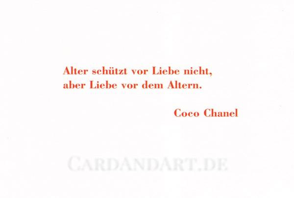 Alter schützt vor Liebe nicht... Coco Chanel - Postkarte