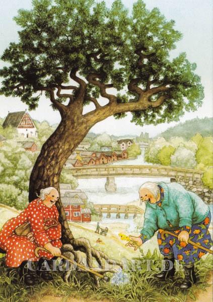 Inge Löök: Naturfreundinnen - Postkarte Nr. 67