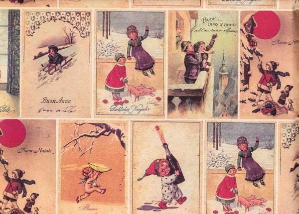 Alte Grußkarten - Geschenkpapier Weihnachten
