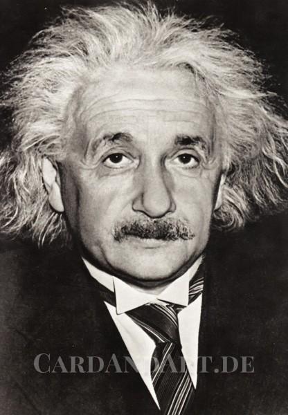 Albert Einstein - Postkarte