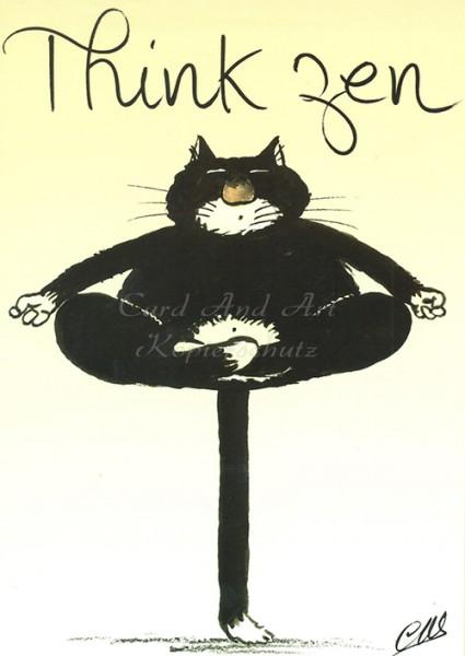 Claude-Henri Saunier - Think Zen - Klappkarte