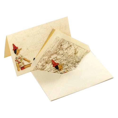 Pinocchio - Italienische Briefkarten mit Kuvert in Box