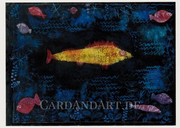 Paul Klee - Der Goldene Fisch - Postkarte