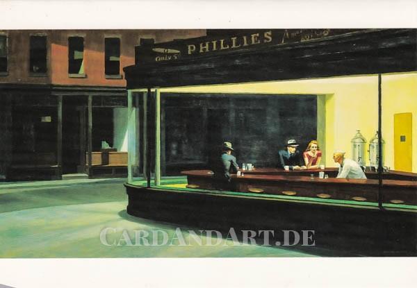 Hopper, Edward: Nighthawks - Doppelkarte