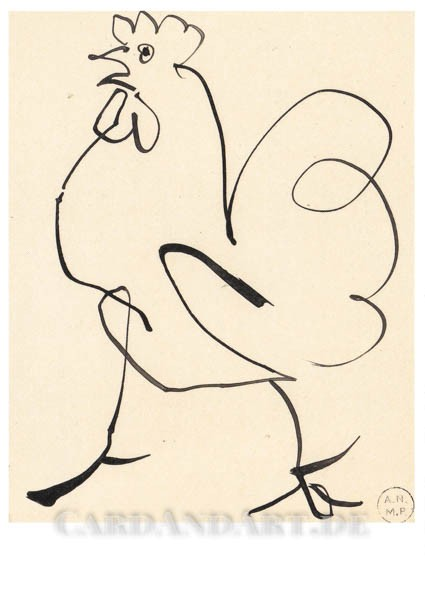 Picasso, Pablo: Hahn - Postkarte