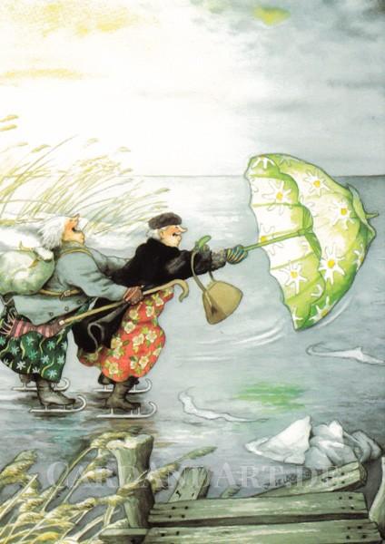 Inge Löök: Winterfreuden - Postkarte Nr. 24